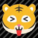 animal, avatar, emoji, happy, like, tiger