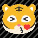 avatar, emoji, heart, kiss, love, tiger icon