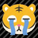 avatar, cry, emoji, sad, tiger, wild