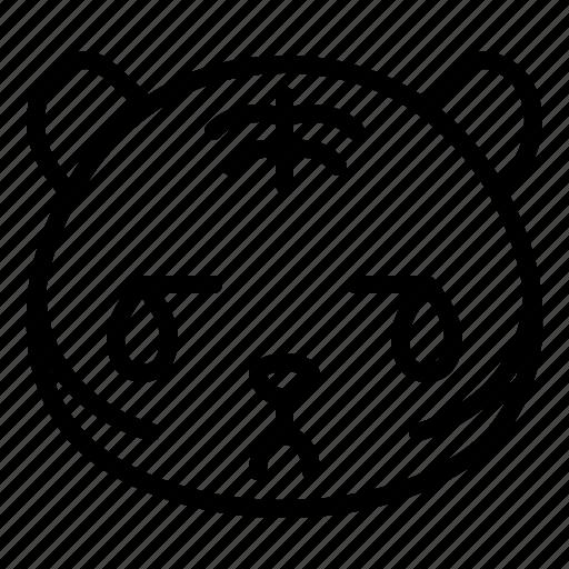 avatar, cry, emoji, hurt, sad, tiger icon