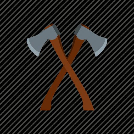 axe, blade, equipment, handle, tool, wood, work icon