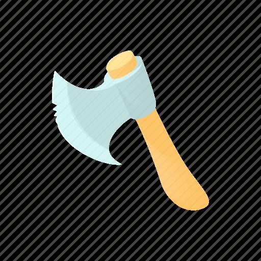 axe, cartoon, construction, lumberjack, metal, tool, wood icon