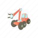 cartoon, equipment, heavy, lumber, timber, tractor, vehicle icon