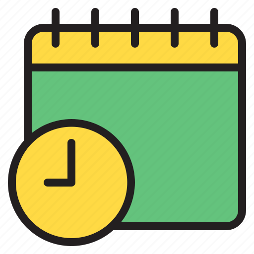 calendar, time, timer, watch icon