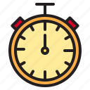 stop, time, timer, watch icon