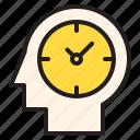 brain, time, timer, watch