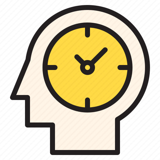 brain, time, timer, watch icon
