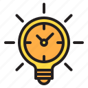 idea, time, timer, watch icon