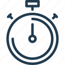 hour, minute, second, stopwatch, time, tracker, watch icon
