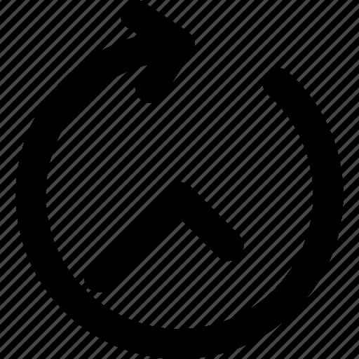arrow, creative, grid, hour, shape, sixty-minutes, time icon