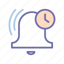 bell, ring, time icon