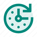 clock, deadline, rotate, stopwatch, time, timer, watch icon