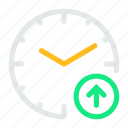 alarm, clock, increase, time, up, watch icon