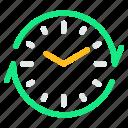alarm, clock, recycle, refresh, sync icon