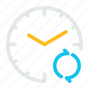 alarm, clock, recycle, refresh, sync, time, watch icon