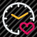 clock, line, mini, time, timer icon
