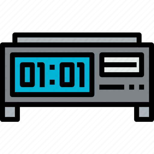 clock, digital, hour, minute, time, watch icon