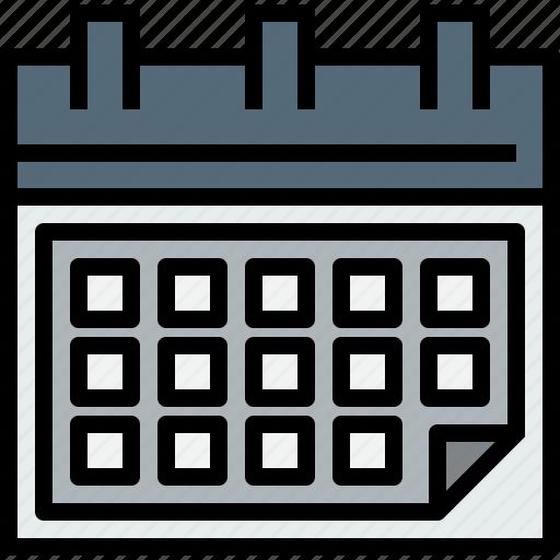 agenda, calendar, event, time icon
