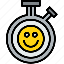 chronometer, clock, happy, hour, minute, time icon