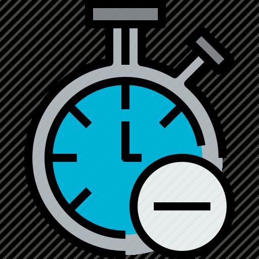 chronometer, clock, hour, minute, remove, time icon