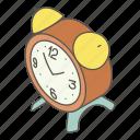 alarm, clock, isometric, logo, morning, object, time