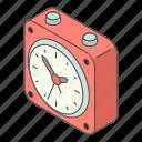 alarm, clock, isometric, logo, object, small, time