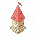 architecture, ben, clock, isometric, logo, object, tower