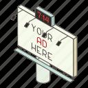 advertise, advertisement, billboard, isometric, logo, object, outdoor