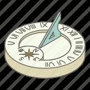 clock, isometric, logo, object, solar, time, watch