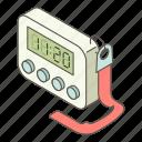 clock, digital, isometric, logo, morning, object, time