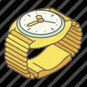 accessory, alarm, isometric, logo, object, watch, wrist