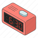 clock, countdown, isometric, logo, morning, object, time