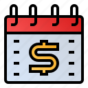 calendar, date, event, money, schedule icon