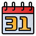 calendar, date, end of month, event, schedule icon