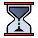 clock, hourglass, sandglass, timer icon