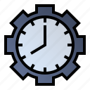 clock, productivity, time-management, work time icon
