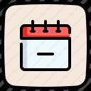 schedule, organization, calendar, remove, delete