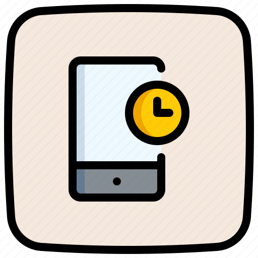 Mobile, phone, communications, smartphone, cellphone, clock icon - Download on Iconfinder