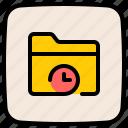 deadline, archive, folder, clock, time management