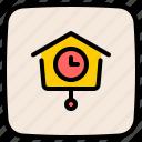 cuckoo, antique, wall, clock, ornament, decoration