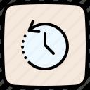 counterclockwise, history, time, clock, circular arrow