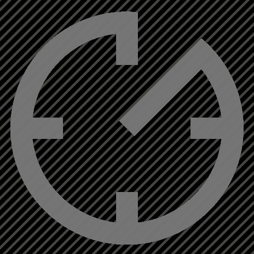 av-timer, clock, line, material, outline, time icon
