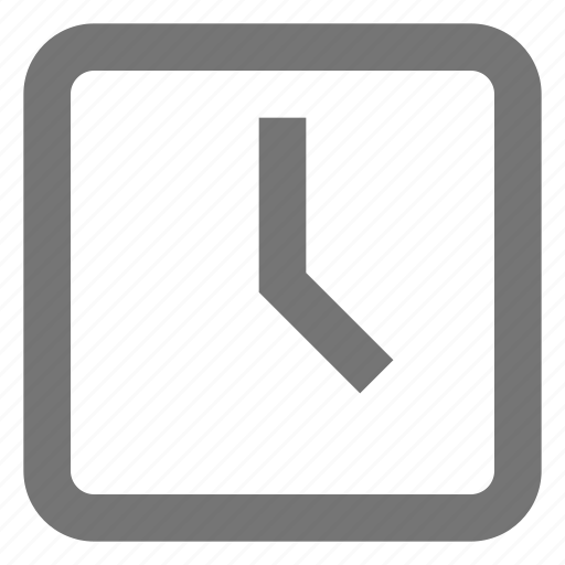 box, clock, line, material, schedule, time icon