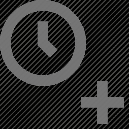 add, alarm, clock, material, plus, time, timezone icon