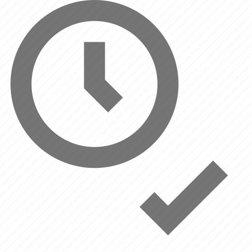 active, check, choose, clock, material, time, timezone icon