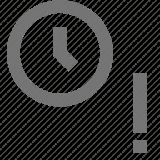 alarm, alert, clock, material, time, warning icon
