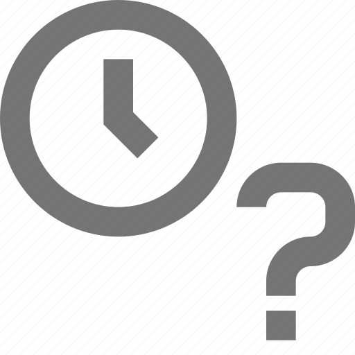 clock, help, material, question, reminder, schedule, time icon