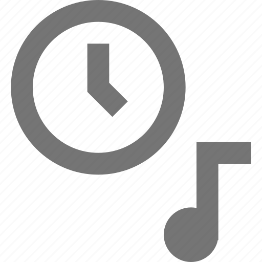 clock, material, music, ringtone, sound, time icon