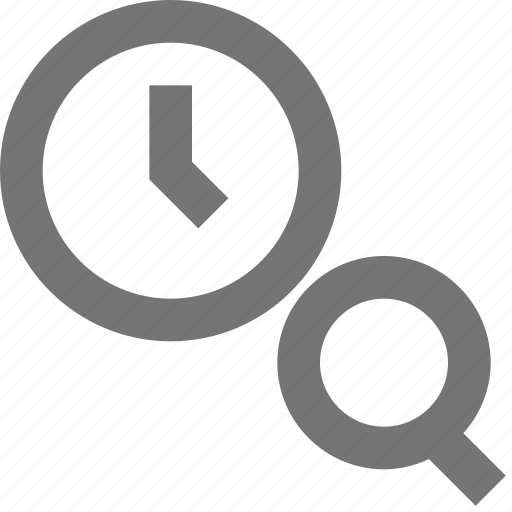 clock, material, reminder, schedule, search, time icon