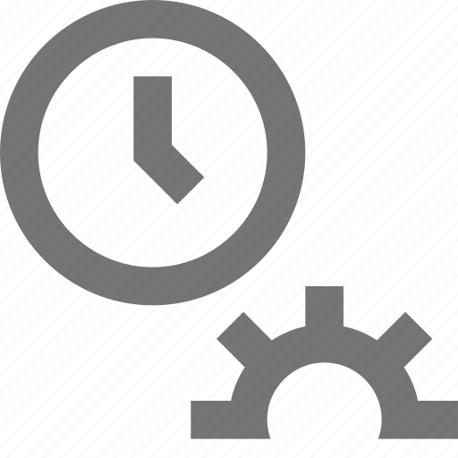clock, line, maintenance, material, settings, time icon